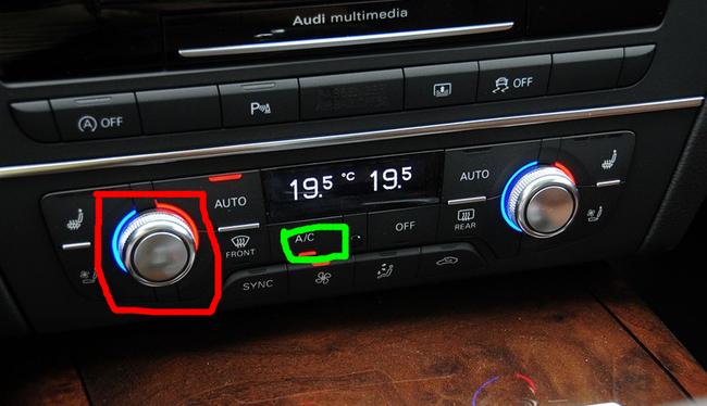 奥迪a6冷暖风转换开关位置 -A6用车问答高清图片