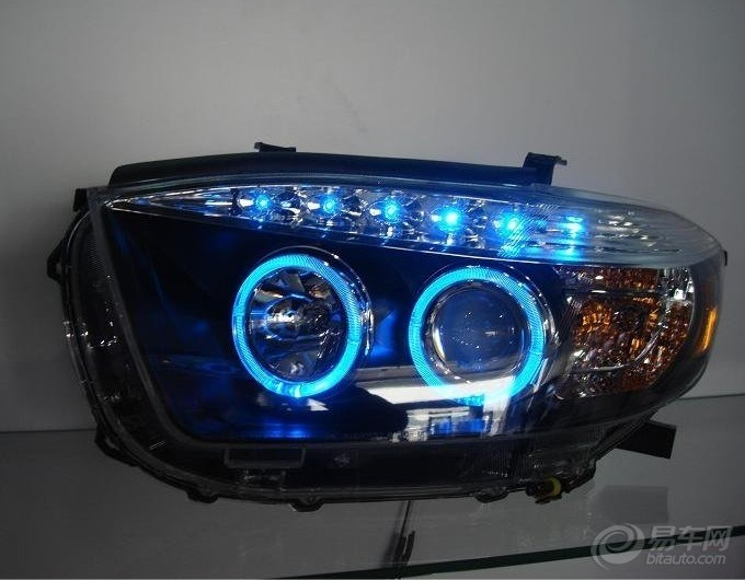 【汉拉达改装总成(蓝色LED)_汽车灯图片_浏览相册_黑夜的燕子的高清图片