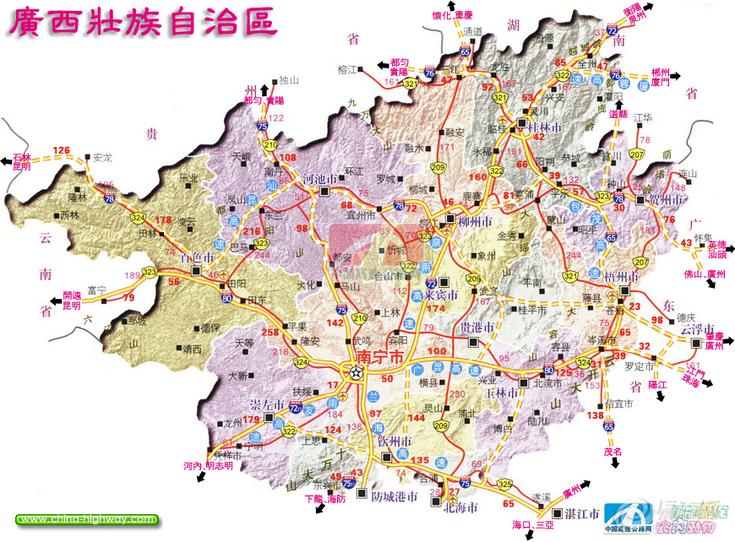 广西高速公路规划及东兰高速路;
