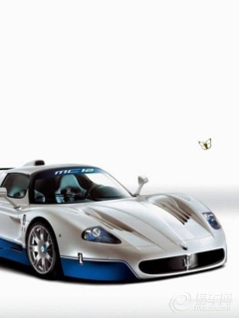 赛场奔驰 全新名车写真手机壁纸下载; 【玛莎拉蒂蓝白色_玛莎拉蒂