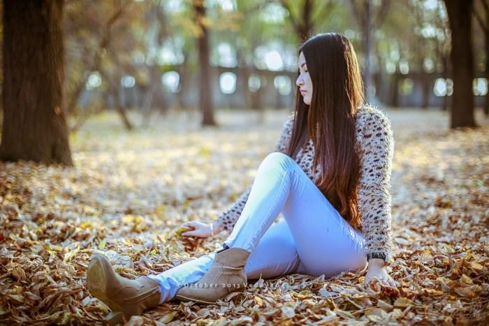 【人像秋景:十八岁的妹子萌】