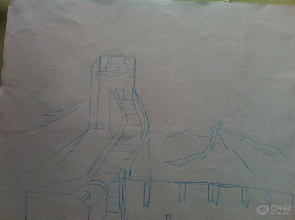 最简单的长城素描画图片 最简单的动漫人物素描,exo素描图片画图步图片