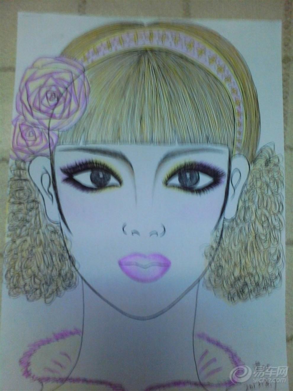 彩妆手绘图纸:创意彩妆手绘妆面图:手绘建筑设计图纸