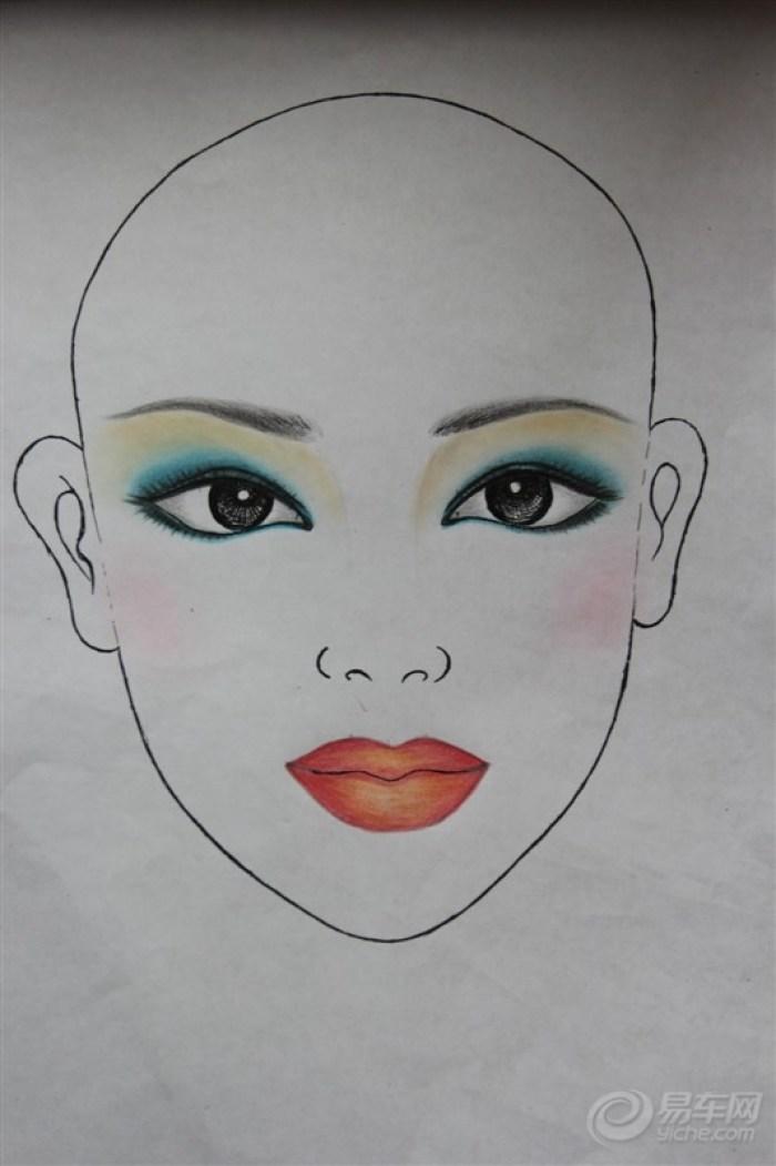 纸上妆面设计图