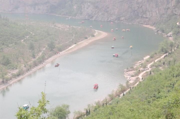 河南鹤壁淇河景点_鹤壁淇河天然太极图