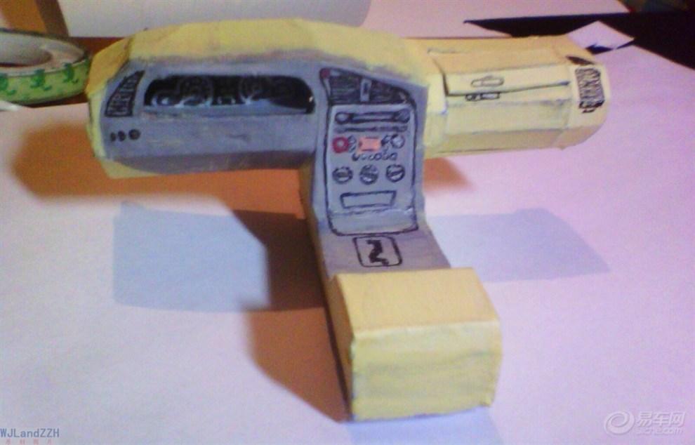 【wjl纸模型】纯手工制作纸质汽车模型—雪铁龙·爱丽舍