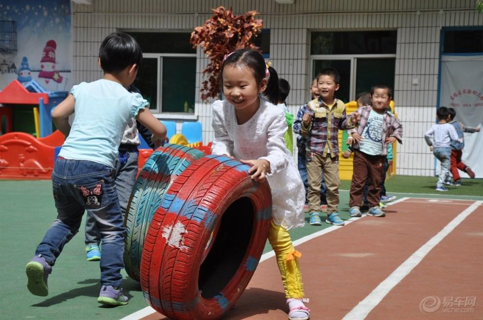 【【 原创首发】幼儿园体育游戏妙用废旧轮胎