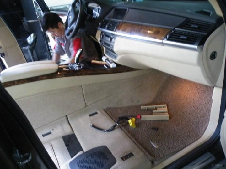 上海宝马x5主副驾加装座椅通风座椅空调