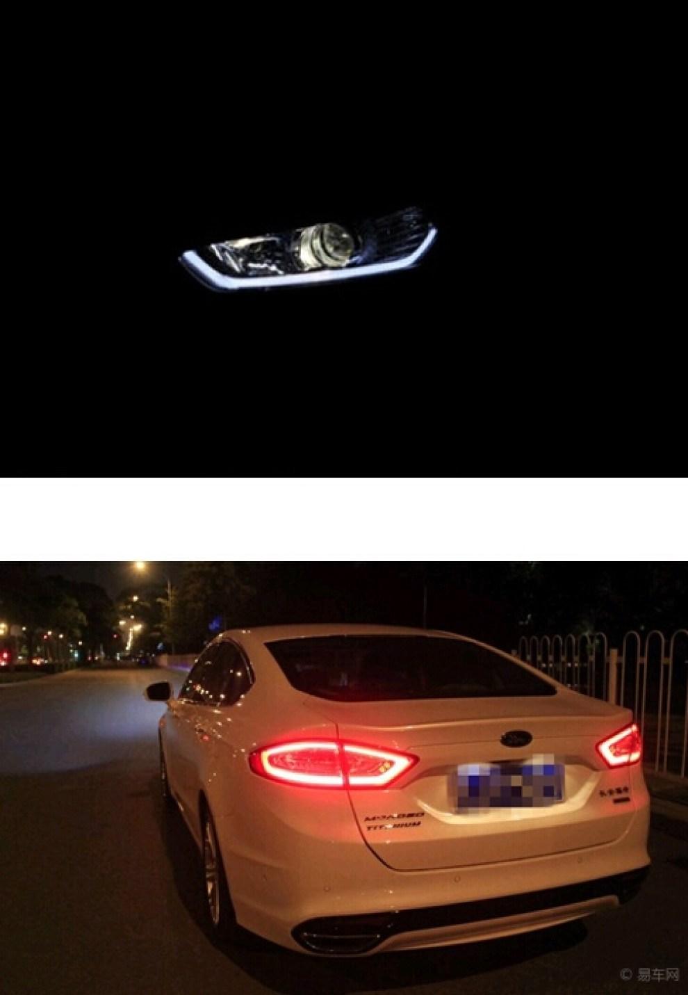 新蒙迪欧led大灯超赞,呼吁大家安全使用行车灯光 高清图片
