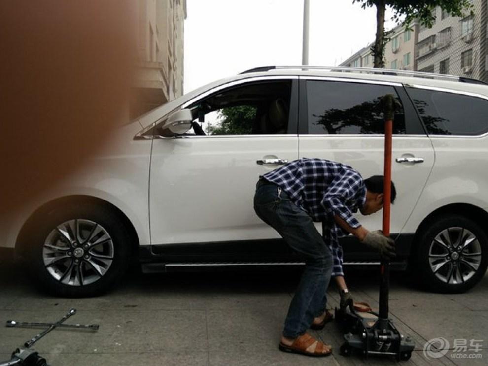宝骏730轮胎改装205 60 16立贴测试 2015.4.高清图片