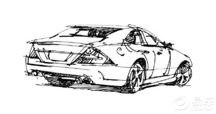 素描汽车的步骤图