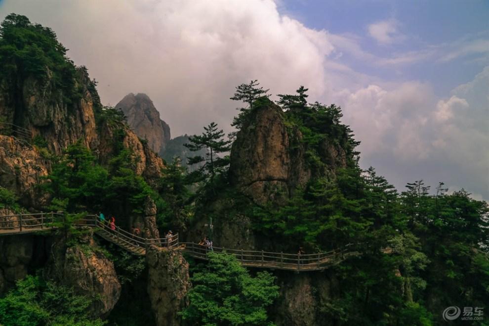 河南老君山风景——雾天
