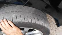 我的迈腾8.4万公里第三次更换前轮胎