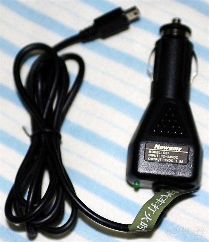 纽曼q71hd车载gps导航仪 无线摄像头 带usb三通烟头