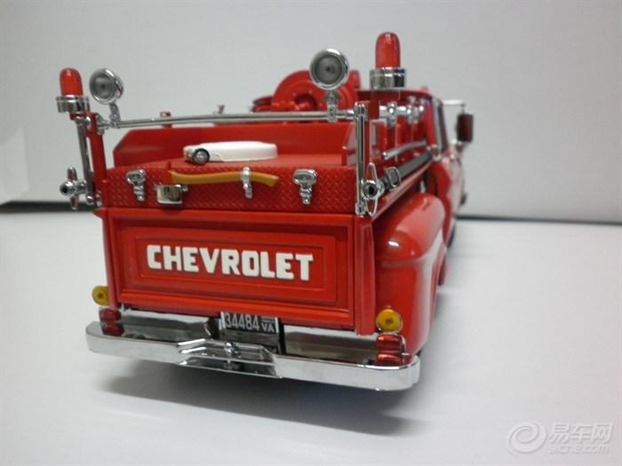 【【雪佛兰画面】1:18皮卡消防车祝贺夜拍比漫小马红色图片
