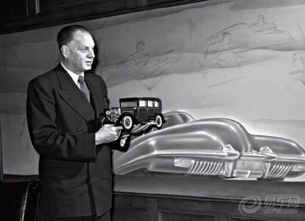 """被喻为""""汽车设计之父""""的哈利·厄尔(harleyearl)便是一位将汽车"""