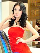红衣娇艳性感美模