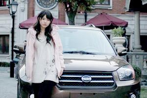 清纯靓丽 草根车模的高清写真