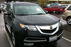 豪车随拍 雨中的黑色讴歌MDX